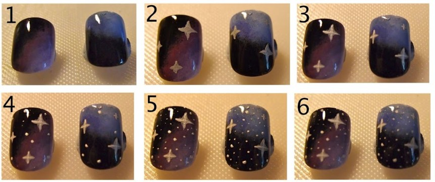 Creating Galaxy nails using acrylic paint | 10 Blank Canvases