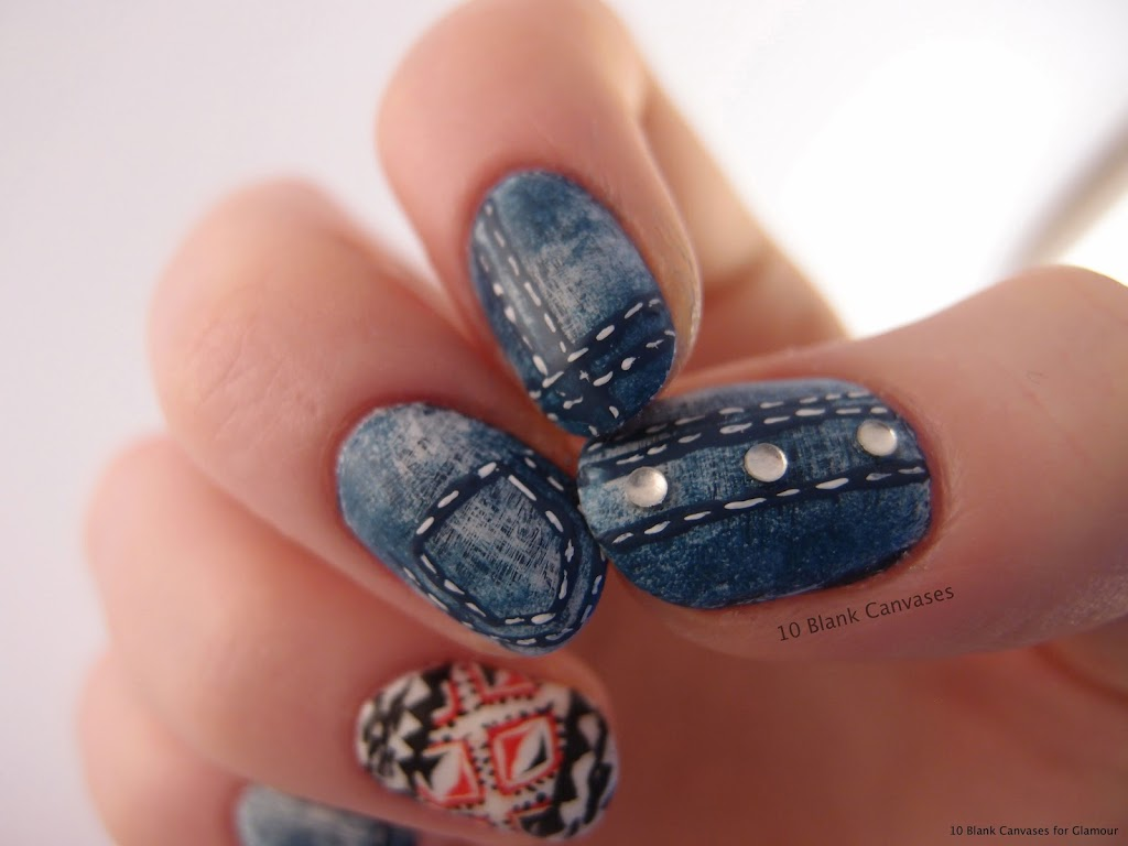 Jeans nails   10 Blank Canvases