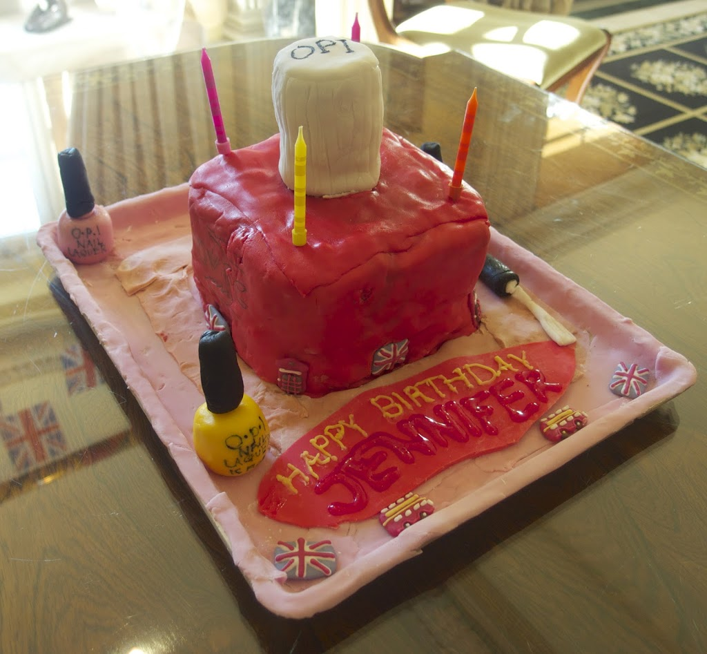 Nail Cake: Nail Polish Birthday Cake