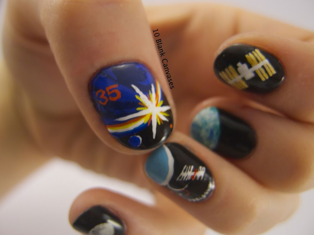 International Space Station Nails | 10 Blank Canvases