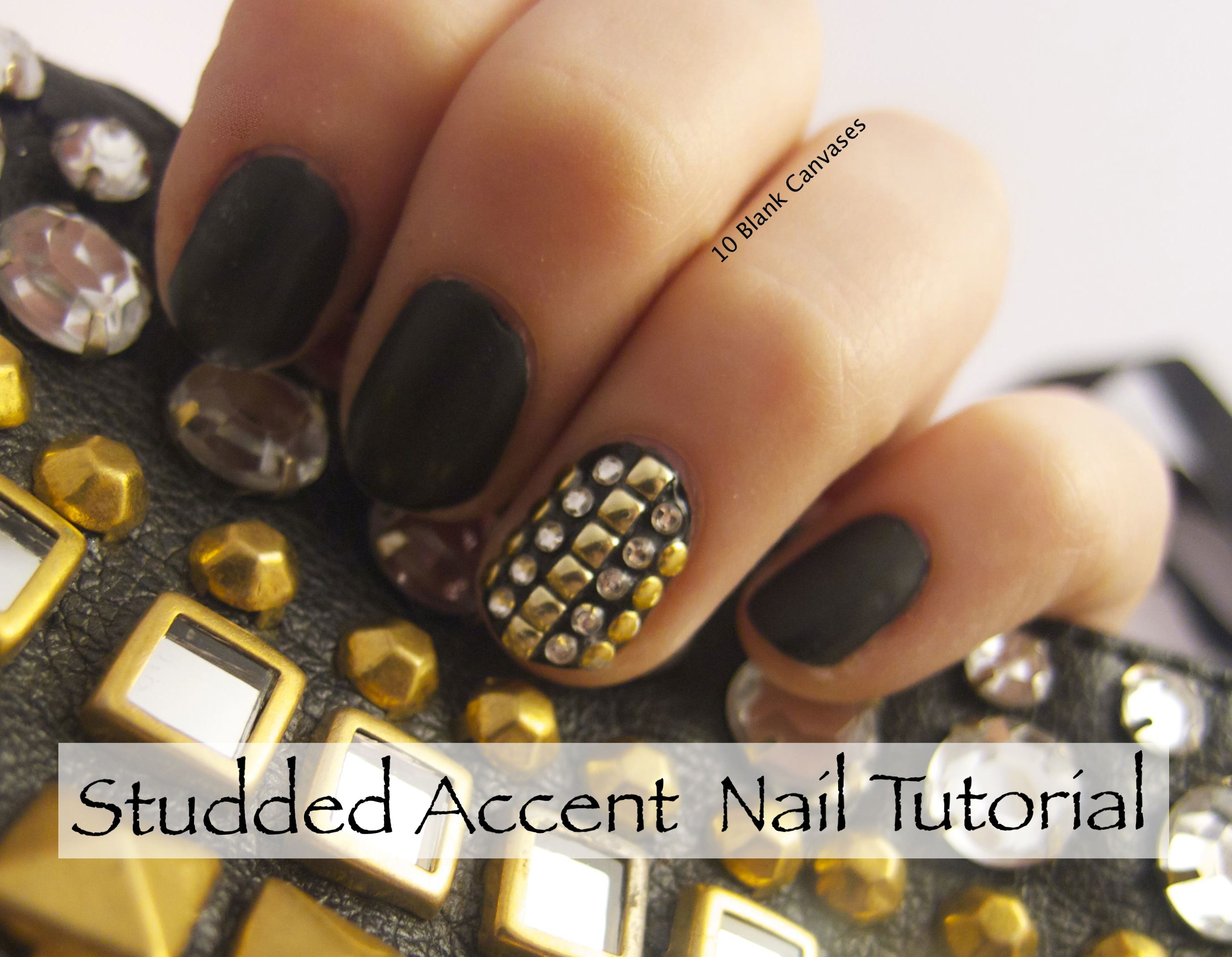 Studded Accent Nail Tutorial