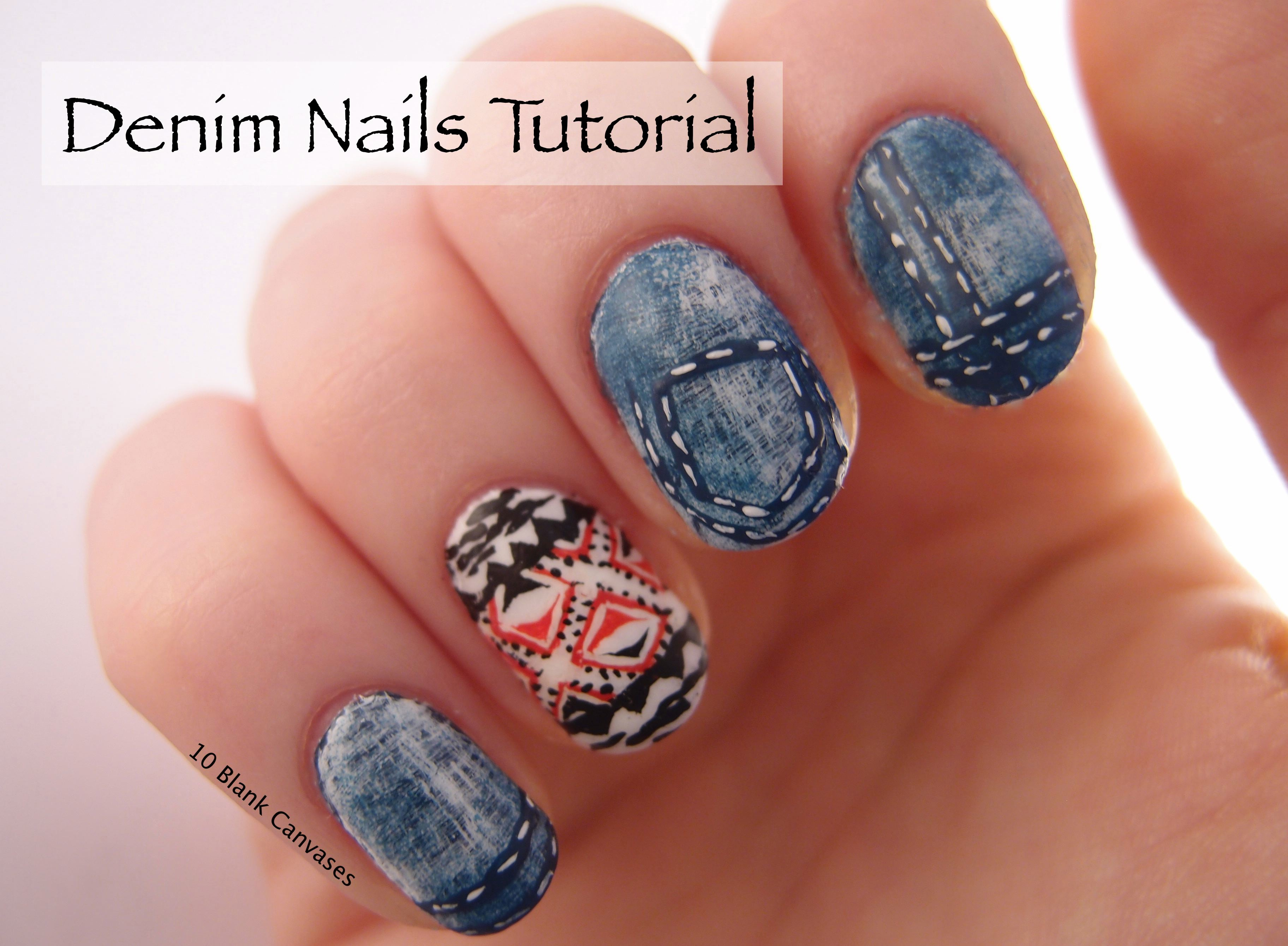 Denim Nail Tutorial