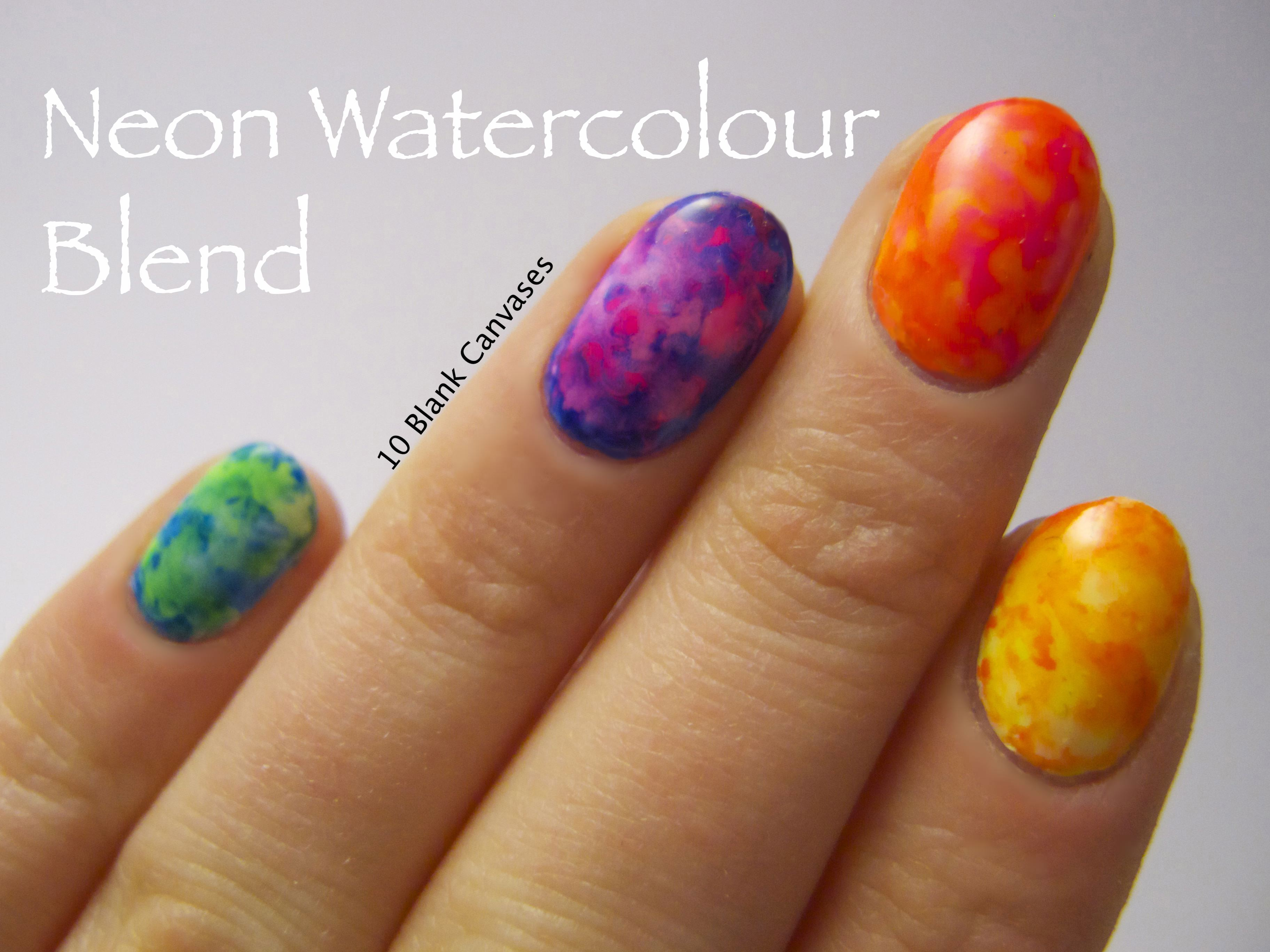 Neon Watercolour Tutorial
