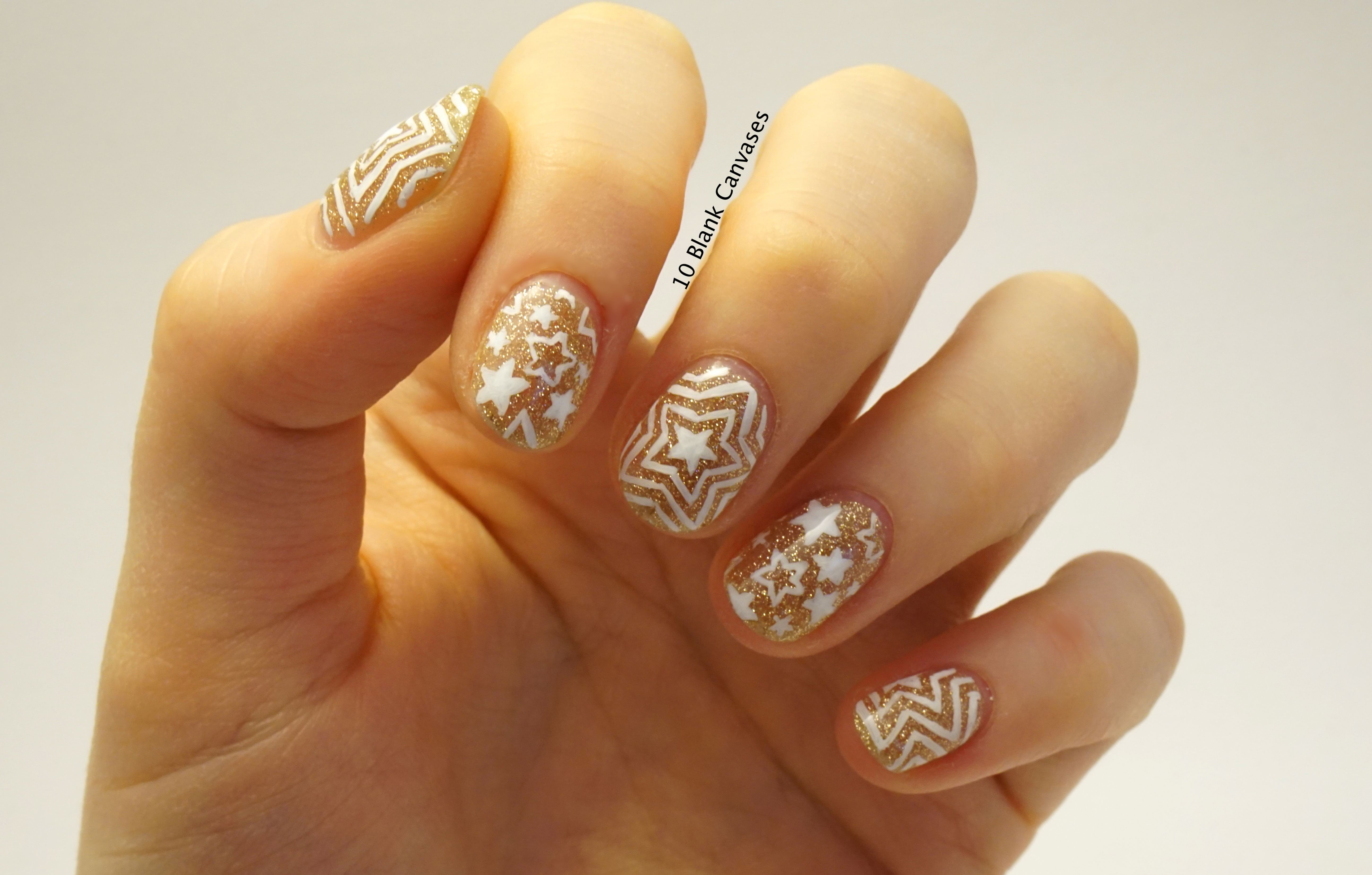 Lux Gel Nails 10 Blank Canvases