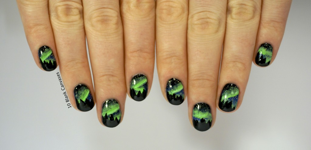 Northern Lights Nails 10 Blank Canvases