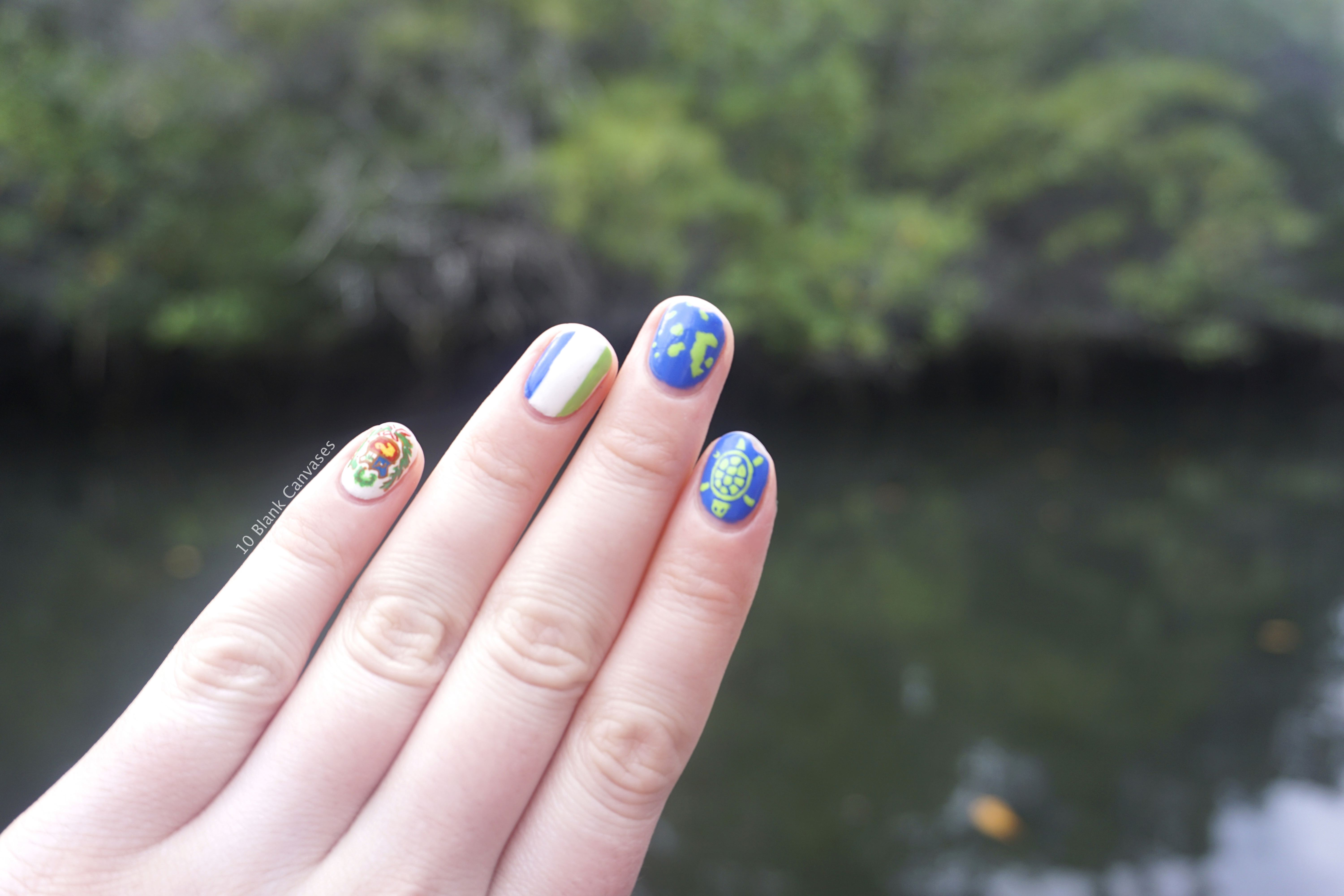 Galapagos and Machu Picchu Nails | 10 Blank Canvases